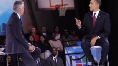 El foro con el presidente Obama fue moderado por el periodista Jorge Ramos.
