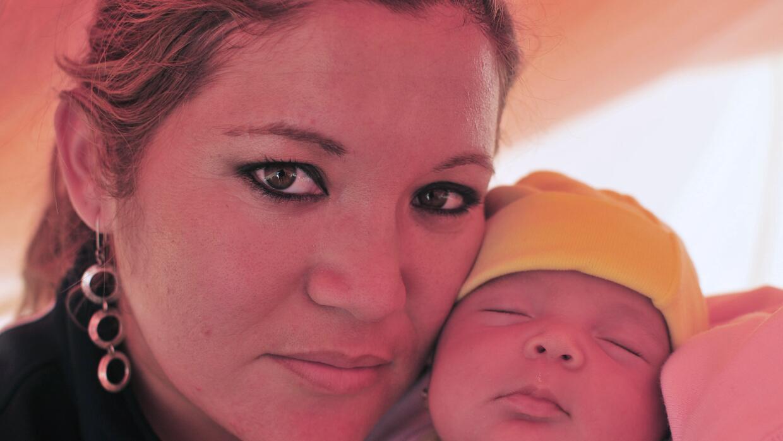 Esposa e hija de Ariel Ticona