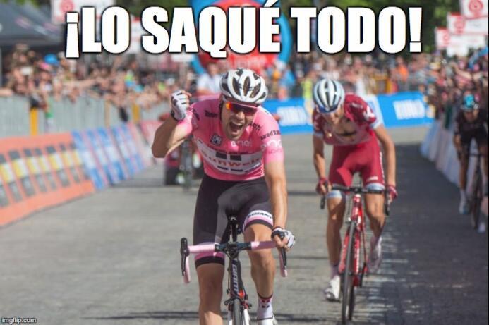 Los memes no perdonan a Dumoulin tras su diarrea en el Giro de Italia 1p...