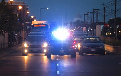 Una manifestación deteniendo el tráfico en St. Paul, Minne...