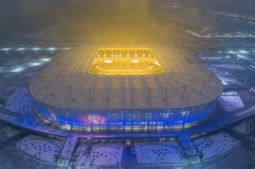 El Rostov Arena (Rostov) ya está terminado y listo para el juego, sin em...