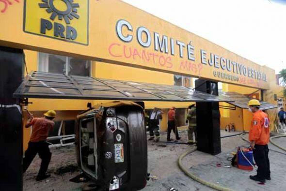 Al parecer los destrozos fueron efectuados por Maestros de la Coordinado...