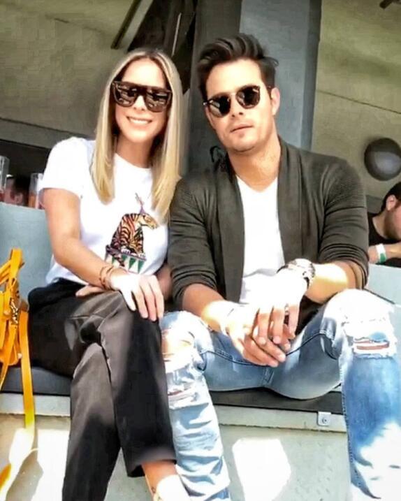 Brandon Peniche y su esposa