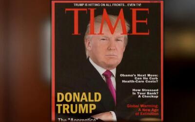 Revista Time le pide a Donald Trump que retire de sus clubes una portada...