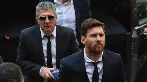 Lionel Messi y Jorge Messi