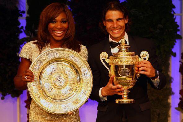 Y los dos monarcas de Wimbledon, Serena Williams y Rafael Nadal, no podí...