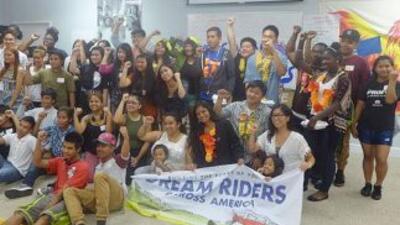 La caravana de dreamers por la reforma migratoria. Fotografía de Dreamri...