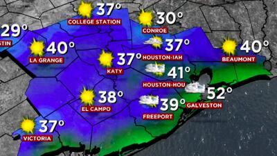 Fría mañana de lunes, pero se espera un alza en las temperaturas en el transcurso del día