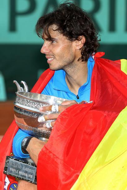 Con su sexto título en el torneo de Roland Garros, el español Rafael Nad...
