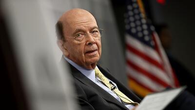 El secretario de Comercio, Wilbur Ross, en un evento en Washington DC en...
