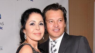 La actriz con Fernando Barrera en febrero de 2012