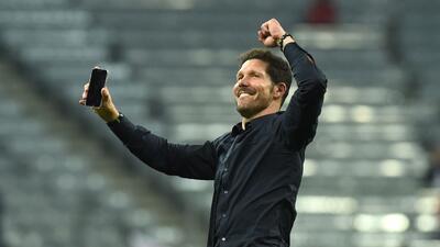 Diego Simeone llega a su segunda final de Champions