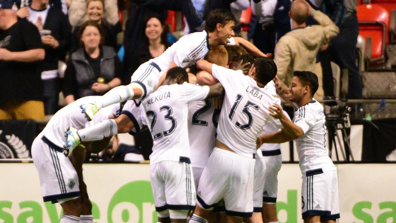 Vancouver Whitecaps celebra gol