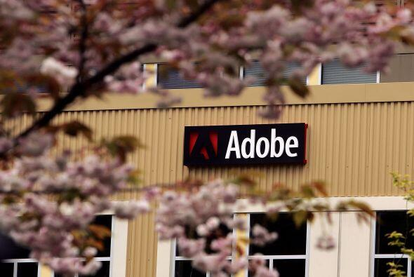 4. ADOBE. Esta productora de software, calificada con 4.2 por los miembr...