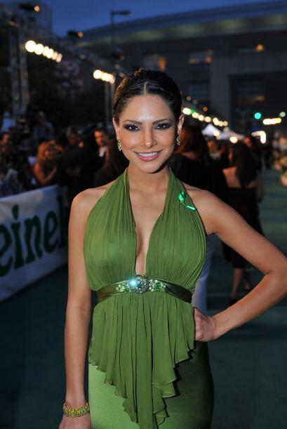 Así de bella lució en la entrega de Latin GRAMMY 2008.