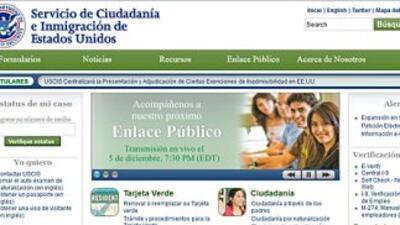 La página digital del servicio de inmigración ofrece servicios en idioma...
