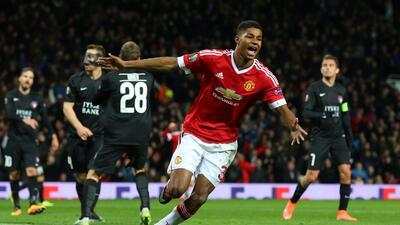 Marcus Rashford marcó un doblete con Manchester United