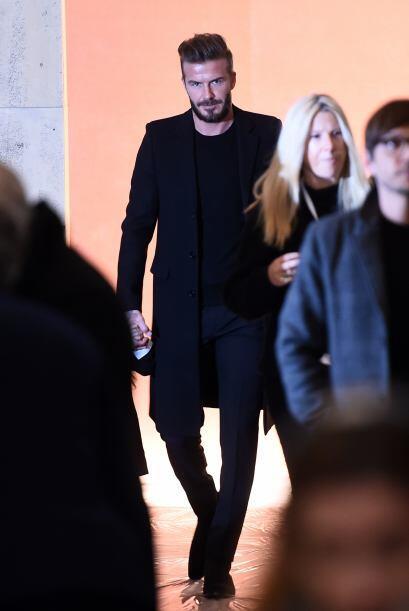David Beckham fue uno de los más fotografiados en este desfile.