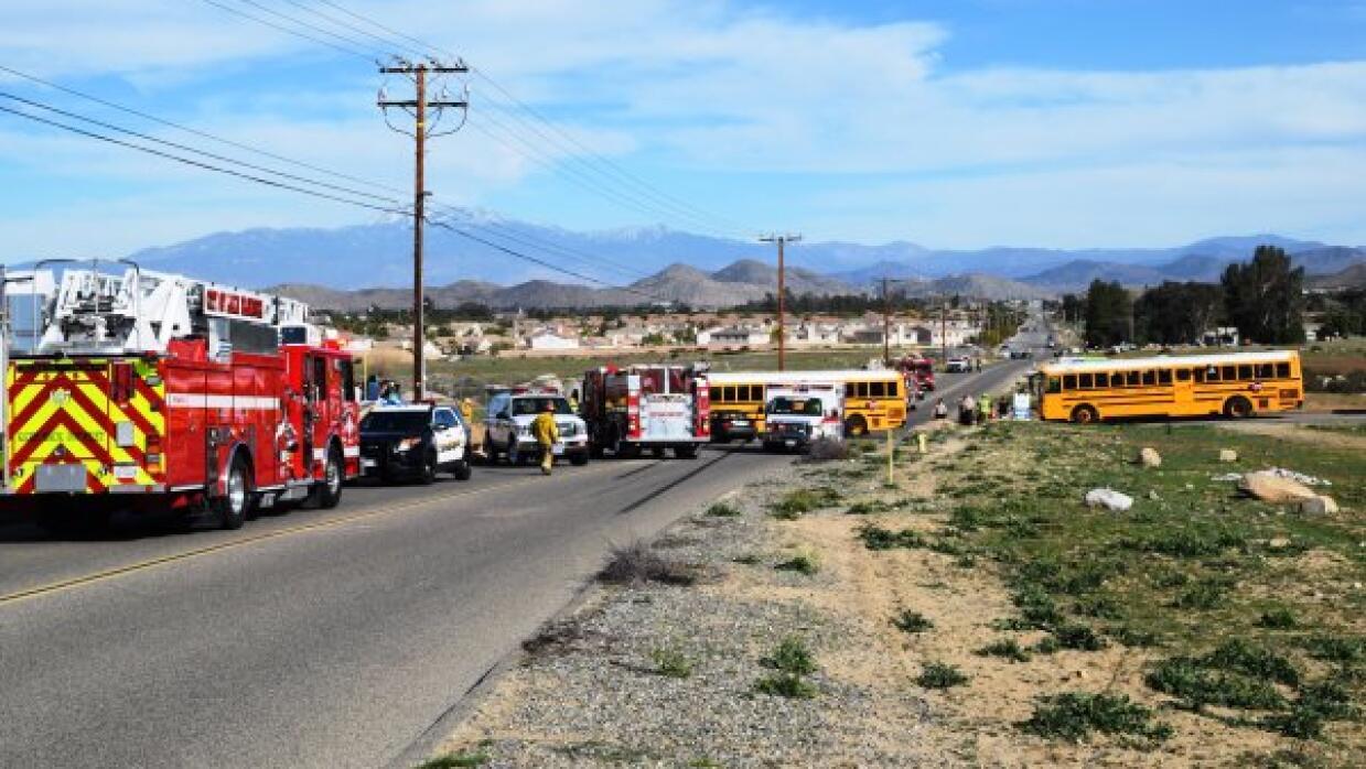 Accidente de autobús en Riverside