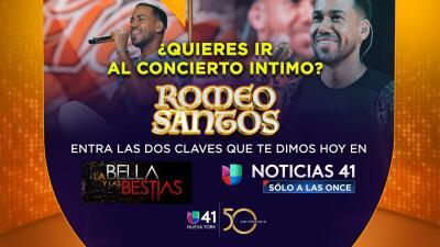 ¡Gana dos entradas para una experiencia íntima con Romeo Santos en concierto!