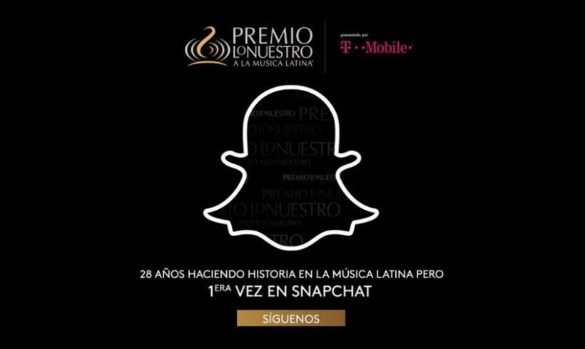Premio Lo Nuestro en Snapchat