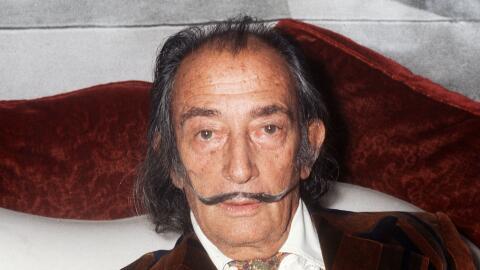 El artista surrealista español Salvador Dalí.