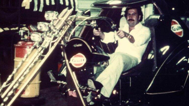Pablo Escobar tenía colección de motocicletas y automóviles.