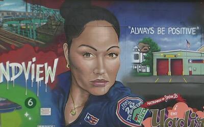 Con un mural rinden homenaje a la paramédica que murió tras ser atropell...