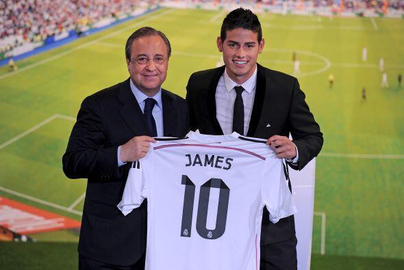 Mientras que el colombiano James, con un valor de 80 millones de euros p...