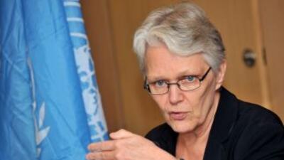 Margareta Wahlstrom, representante especial del secretario general de la...