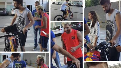 Las bicicletas de Lionel Messi y Gerárd Piqué tienen alma de moto