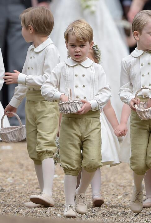 El príncipe Gerorge de Cambridge estaba listo para entrar antes que la n...