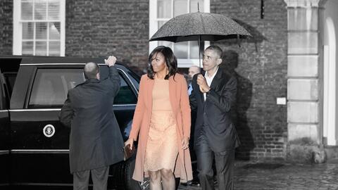 Así lució Michelle Obama en su reciente viaje al Palacio d...