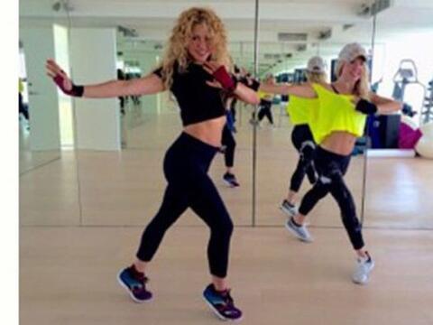 Shakira está dándole duro a su entrenamiento.