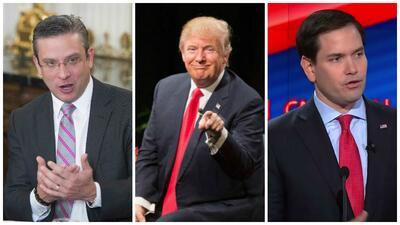 Alejandro García Padilla, Donald Trump y Marco Rubio