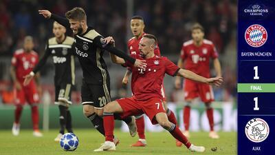 Ajax se convierte en el visitante incómodo del Bayern Munich en Champions League