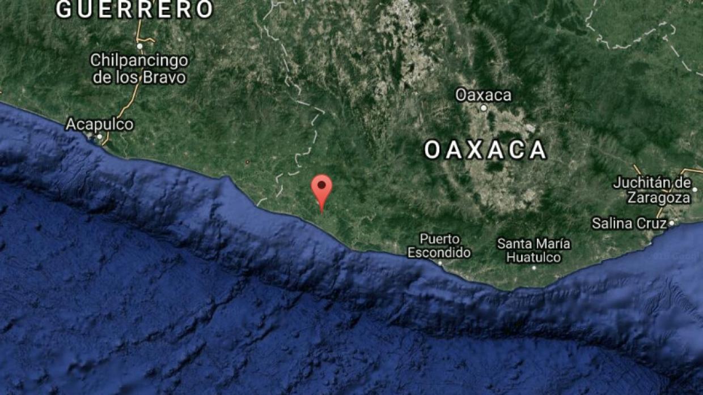 Localización del epicentro del sismo de esta madrugada en México.