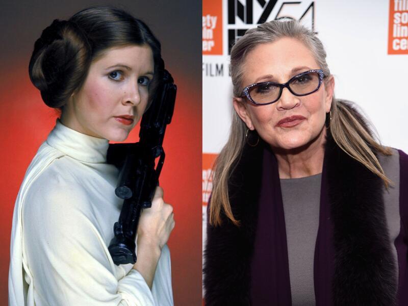 Carrie Fisher, reconocida por su papel de la Princesa Leia en Star Wars,...