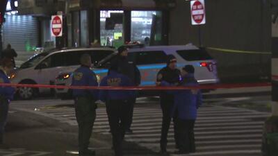 La policía balea a un supuesto pistolero que acababa de herir a otro hombre