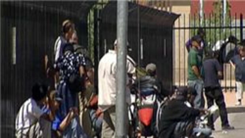 Indigentes en la calles de la ciudad de Phoenix