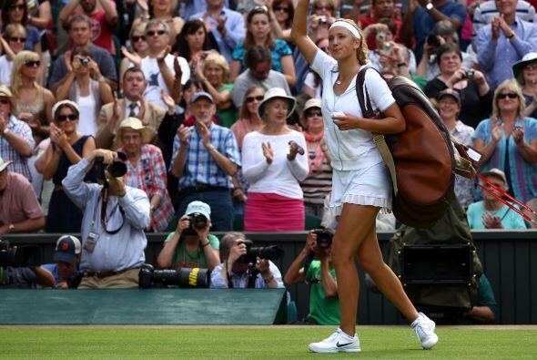 Azarenka dijo adiós al tercer Grand Slam del año.