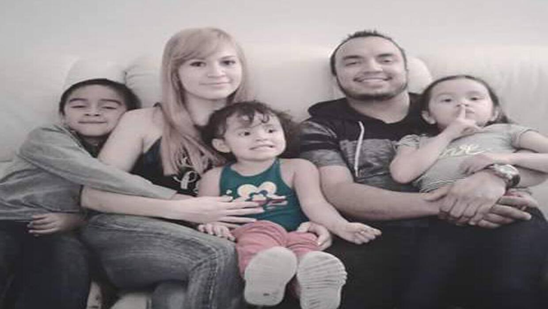 Los miembros de la familia Garnica, víctimas de las inundaciones...