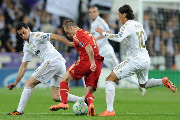 Mientras que Ribery, junto con Robben, fueron los encargados de generar...