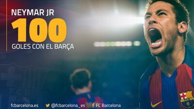 Neymar llegó a los 100 goles con Barcelona