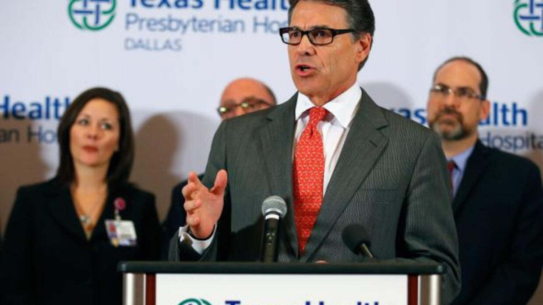 El gobernador de texas, Rick Perry.