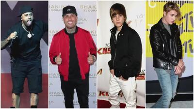 El antes y el después de Nicky Jam, Justin Bieber y otros famosos en su manera de vestir