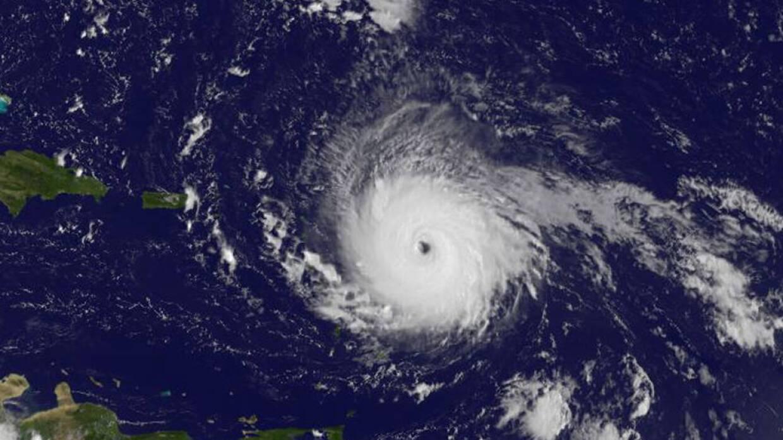 El poderoso huracán Irma.