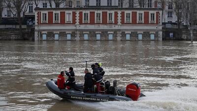 París inundada: las lluvias desbordan el río Sena (fotos)