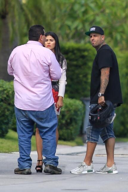 Nicky Jam y su esposa, Angélica Cruz