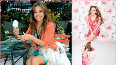 Thalía se ve increíble de shopping y en pijama